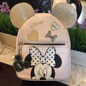 New Disney Minnie Blush Backpack w/Ears!